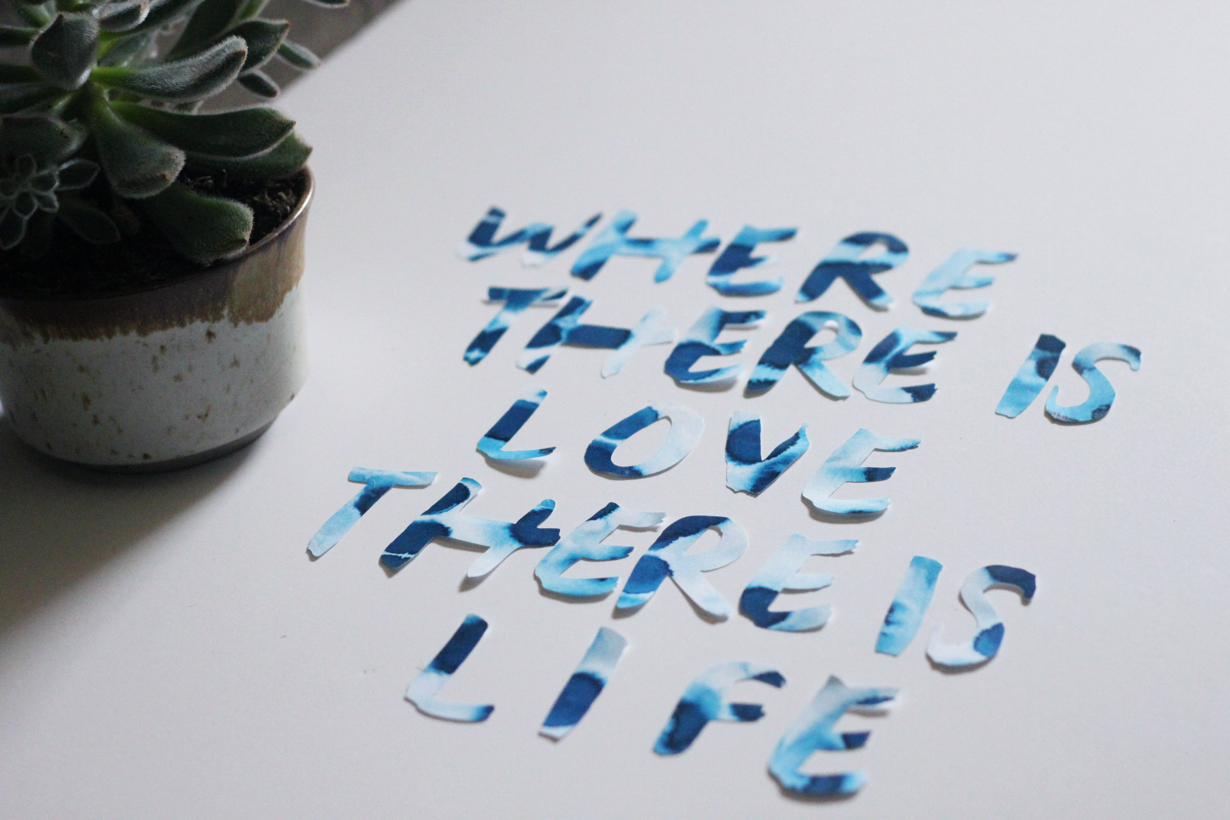 Make Your Own Hand Lettered Art with a Cricut | Sycamore