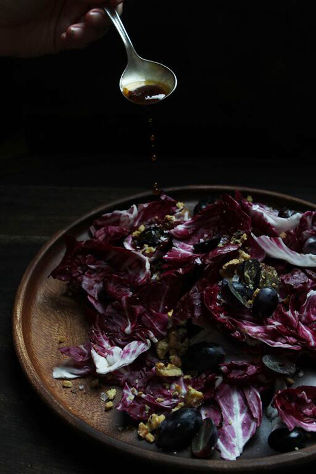 Fall Radicchio, Grape & Toasted Walnut Salad By Ramblin' Rose | Sycamore