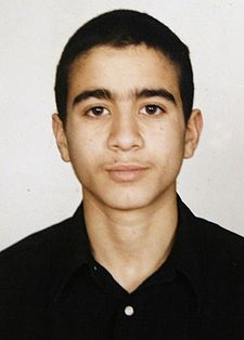 Omar Khadr at the age of 15//AFP