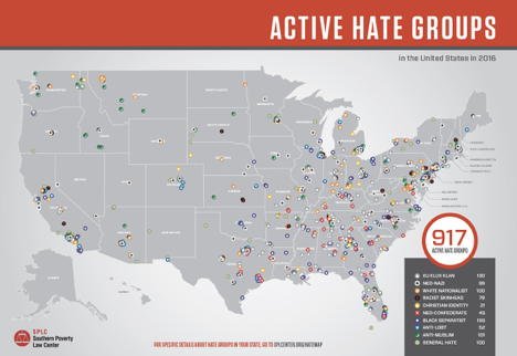 Southern Poverty Law Centre: Active Hate Groups in America//SPLC