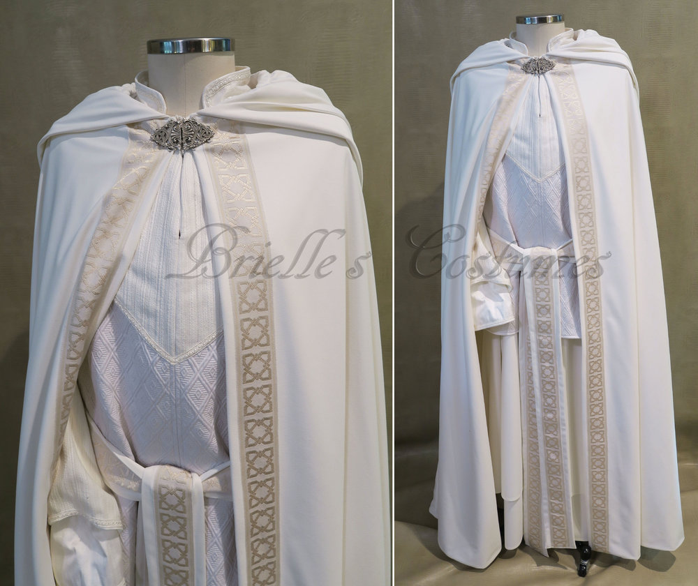 ... cons and any outing that a wizard style garment might be needed. All fabrics are of the highest quality and are a selection of ivory and off white hues. & Wizards u2014 Brielle Costumes