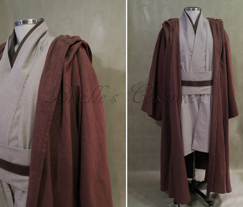 The robe in these photos is a fantastic linen blend. Tunic and tabards are woven wool.