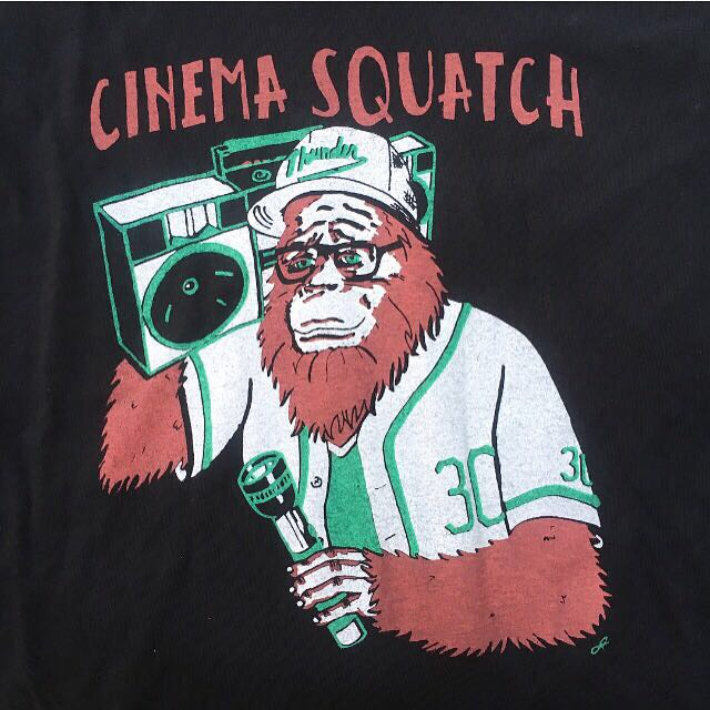 Outspoken Rhino Cinema Squatch T-shirt design