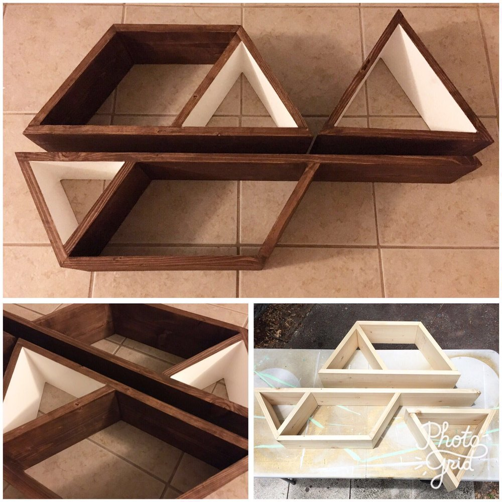 Outspoken Rhino geometric wood shelf