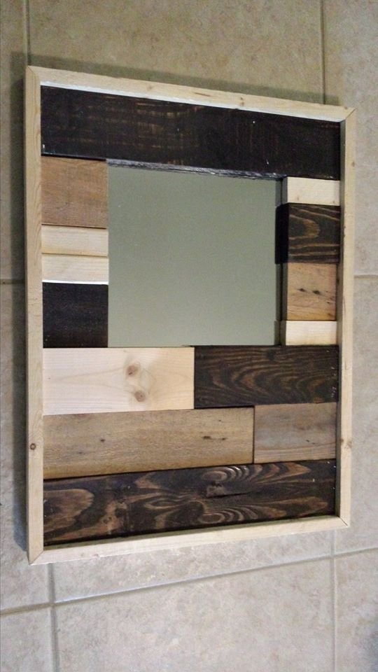 Outspoken Rhino wood scrap mirror