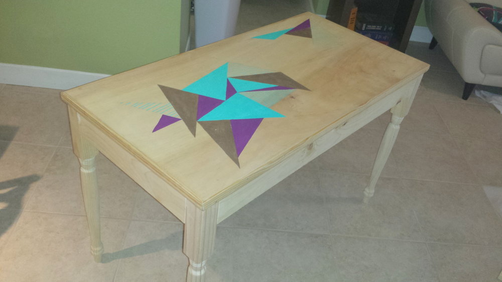 Outspoken Rhino wood table