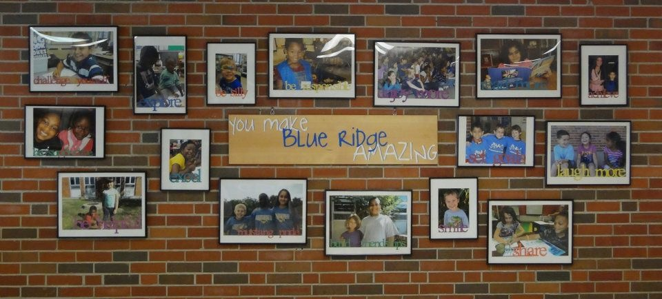 Blue Ridge Elementary wall of kindness