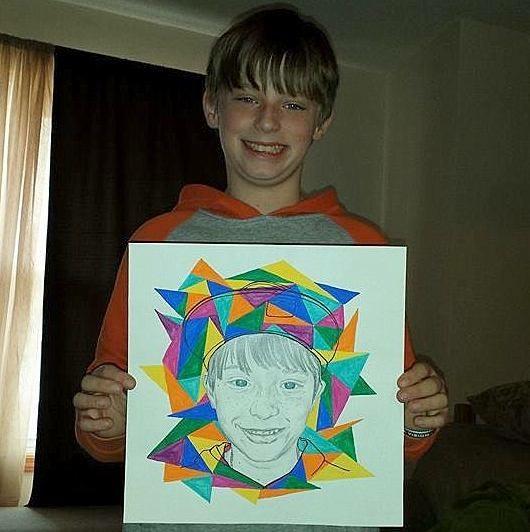 geometric portrait
