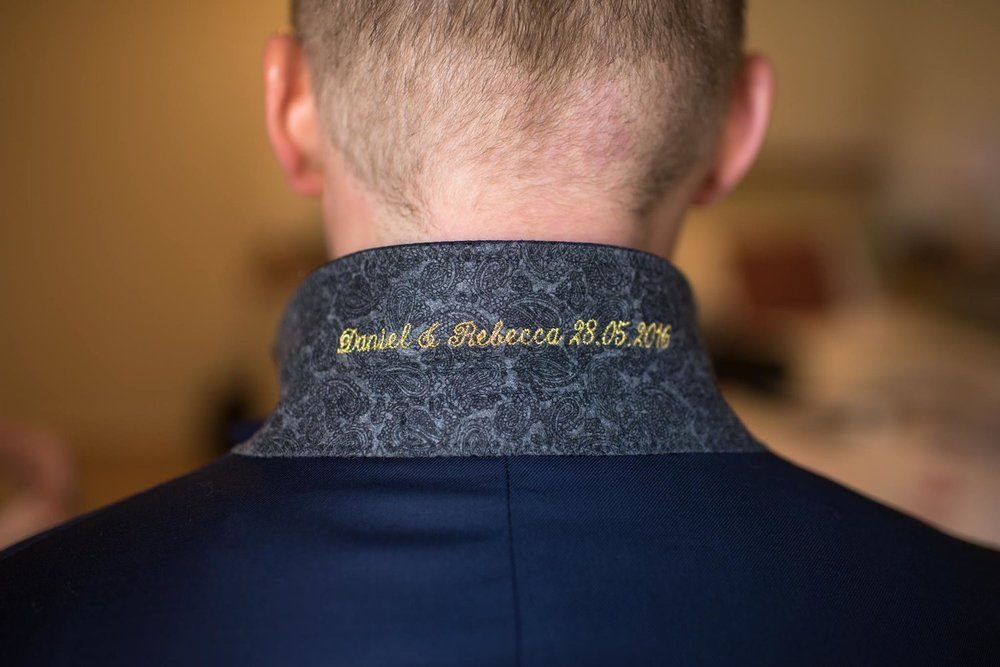 Bespoke embroidery by BT.  Photo by  Tom Hall Photography .