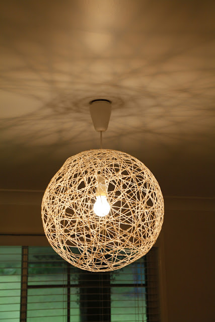 Diy pendant string light the whimsical wife gotta love pinterest for so many wonderful and inspiring ideas mozeypictures Images