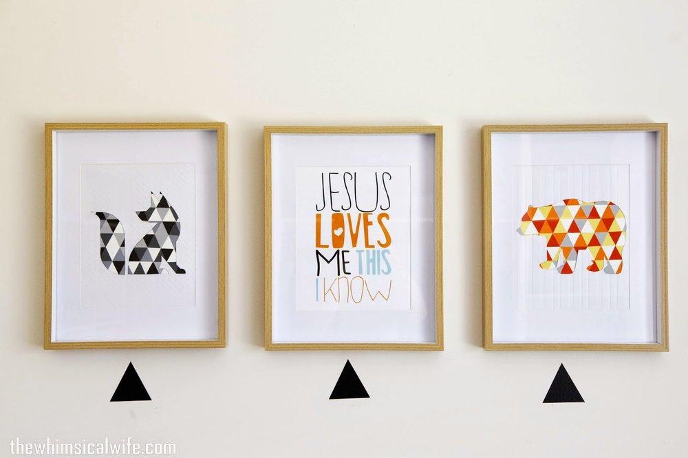 DIY Geometric Animal Wall Art — The Whimsical Wife