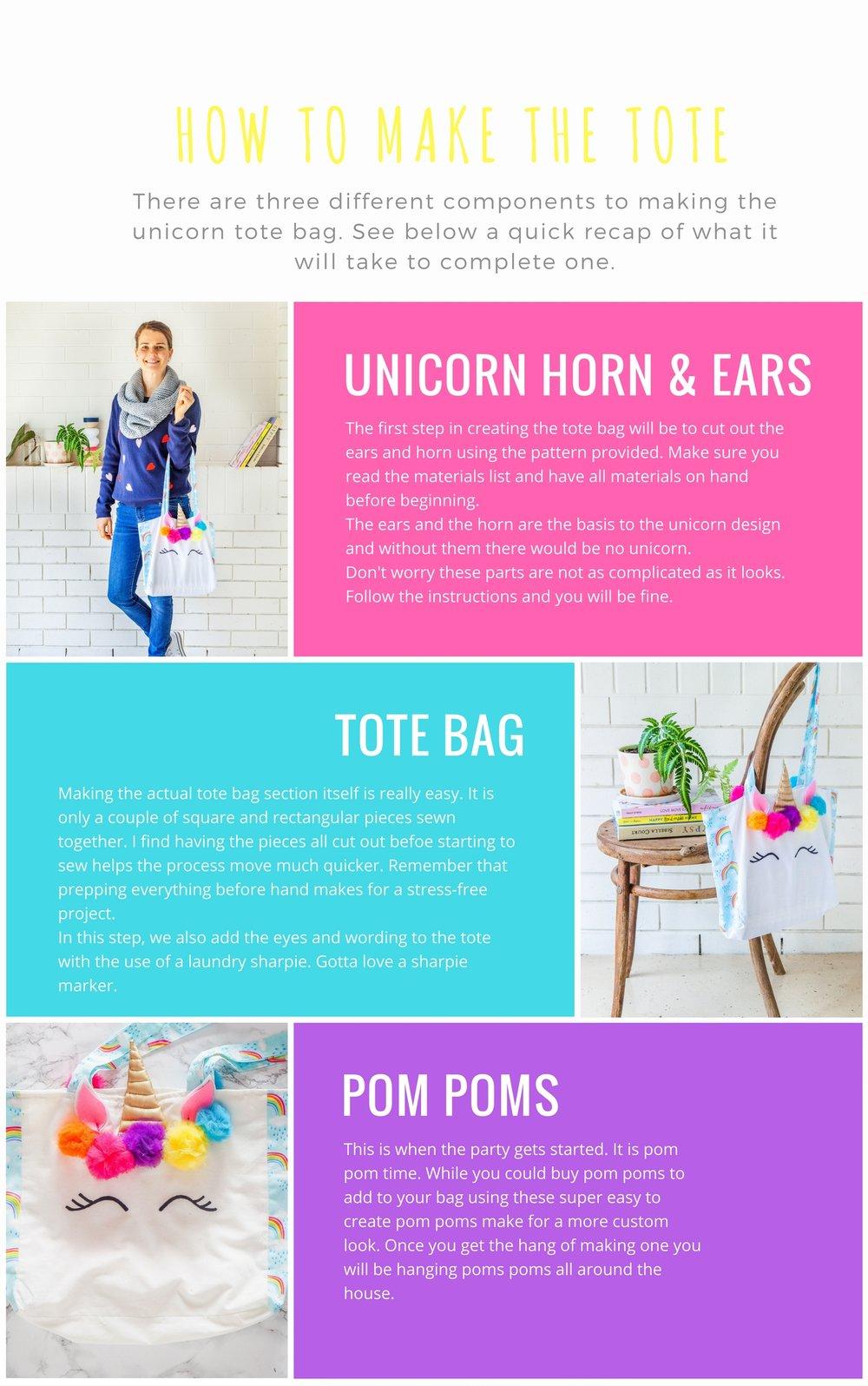 make your own unicorn tote bag pattern u0026 ebook video u2014 the