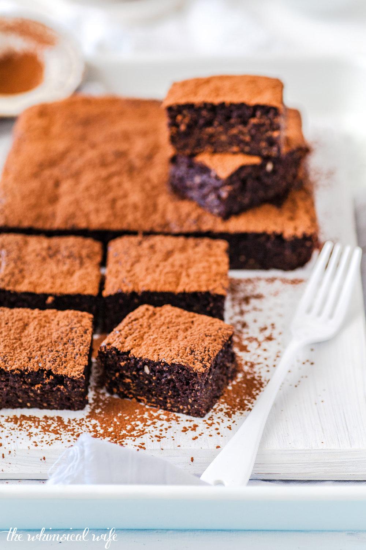 Gooey Chocolate Chia & Sweet Potato Brownie - Dairy & Gluten Free | The Whimsical Wife