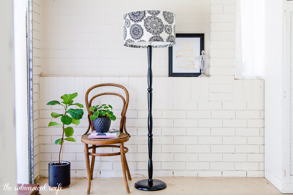 Learn How To Revamp A Lamp Stand & Shade + Video