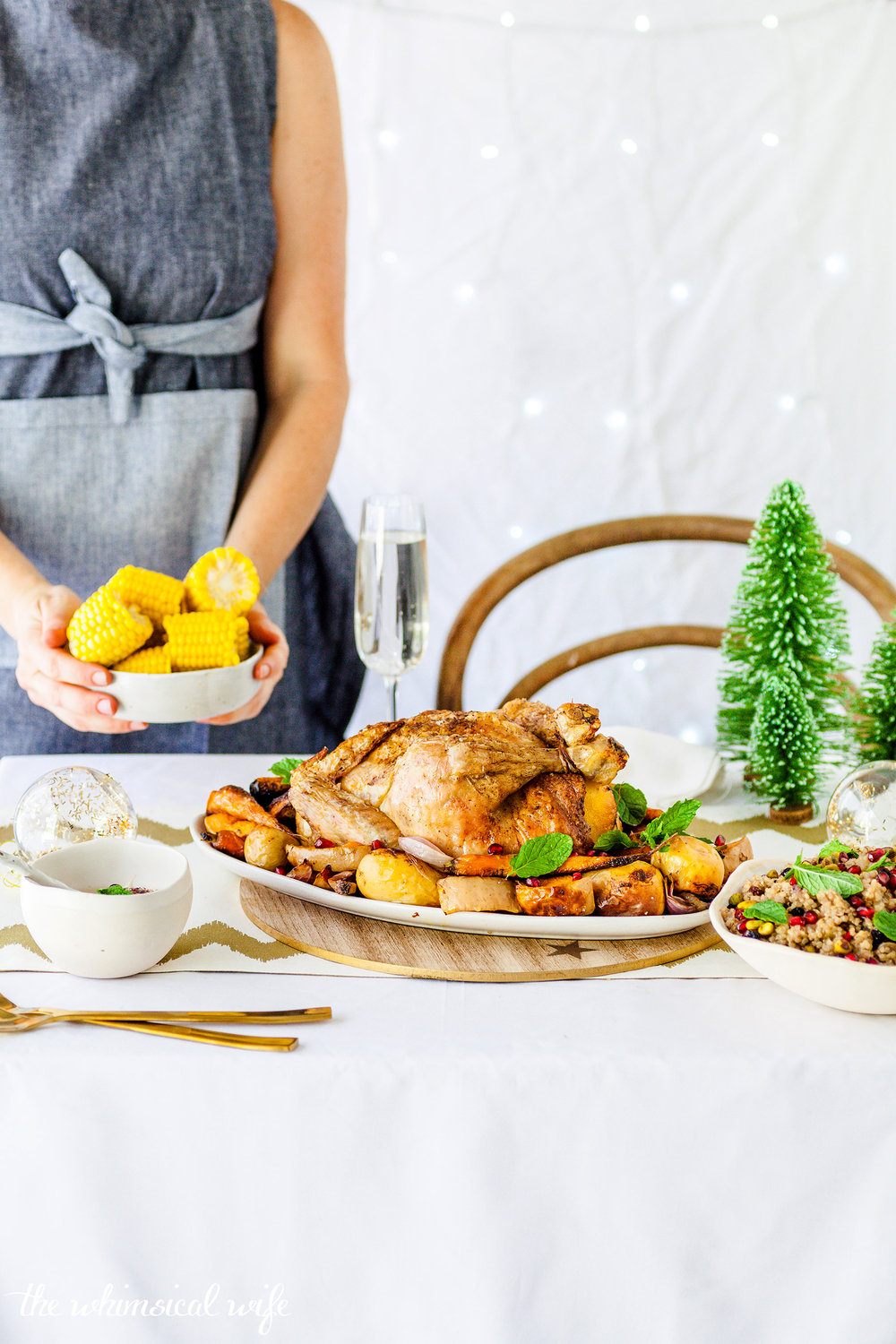 Moroccan Roast Chicken With Quinoa, Pistachio & Currant Stuffing {GF, DF} | The Whimsical Wife