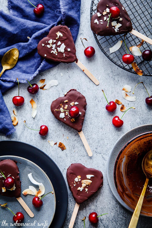 Cherry Ripe Have-A-Heart Ice cream {DF,GF}