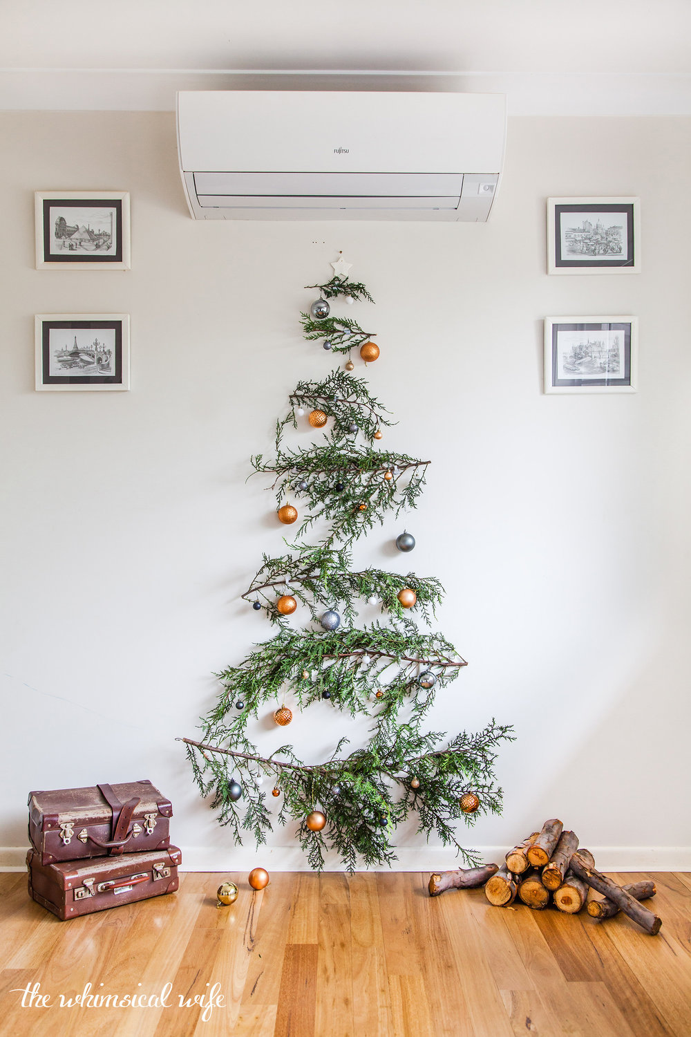 Quick & Easy DIY Pine Branch Christmas Tree