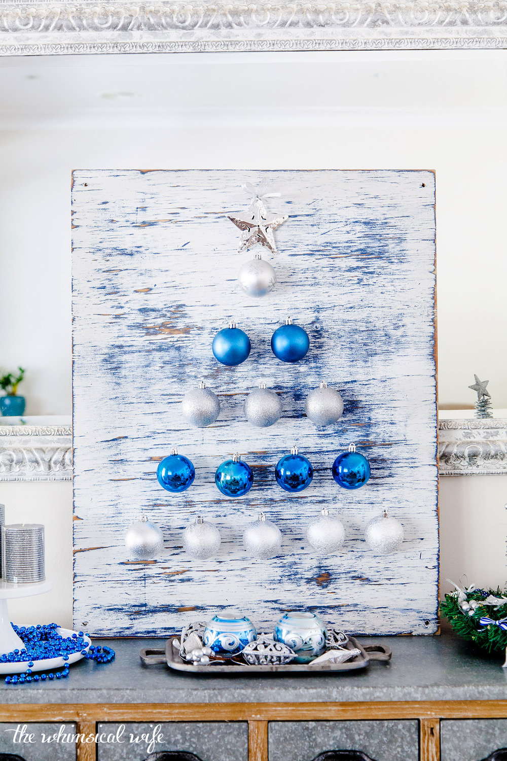 How To Make A Bauble Christmas Tree Board