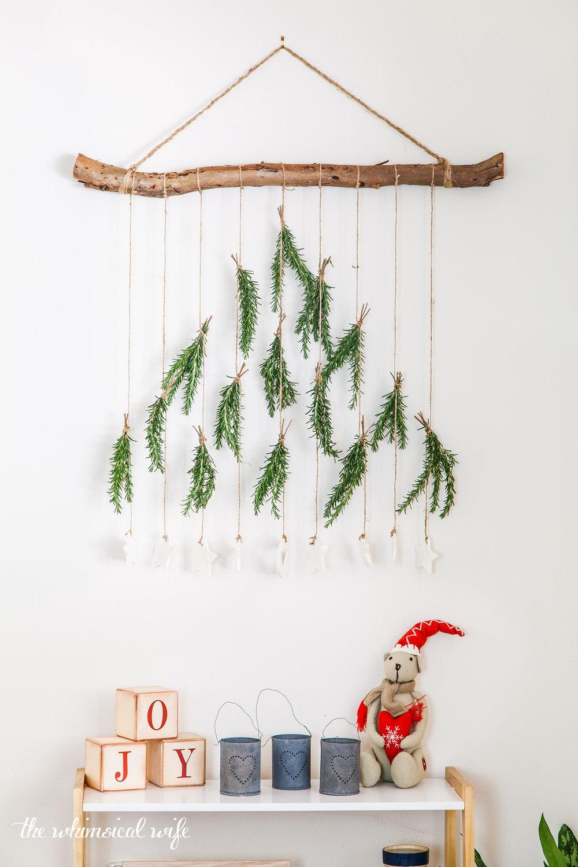 DIY Boho Christmas Tree Wall Hanging