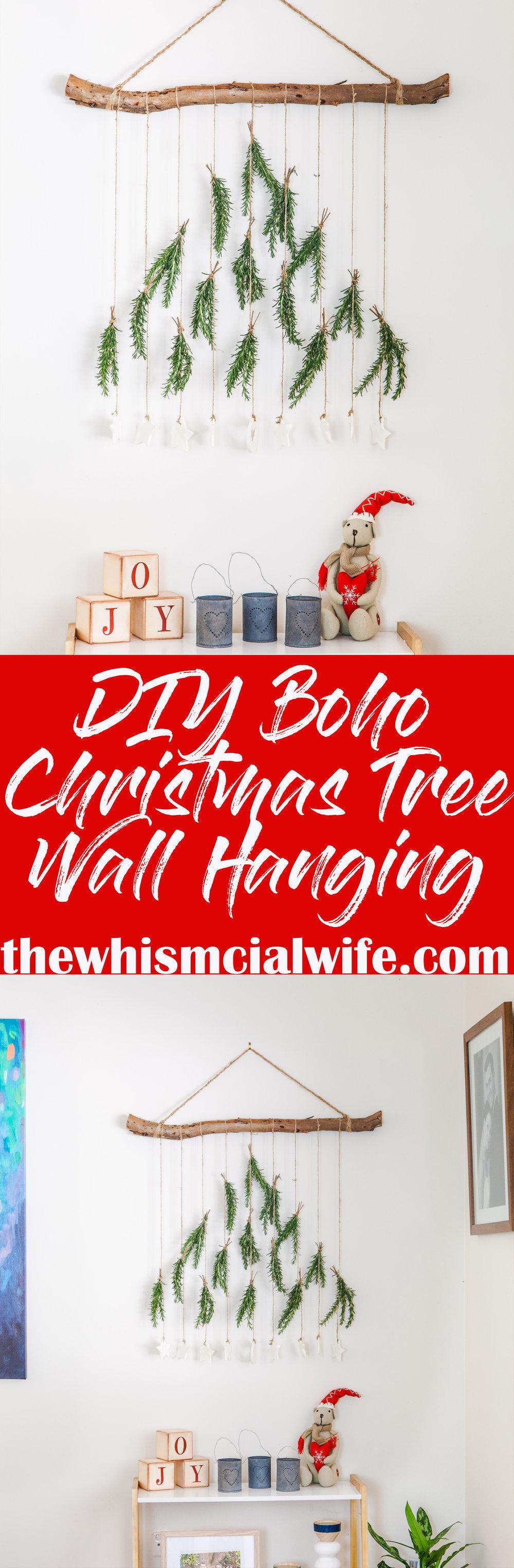 DIY Boho Christmas Tree Wall Hanging - thewhimsicalwife.com