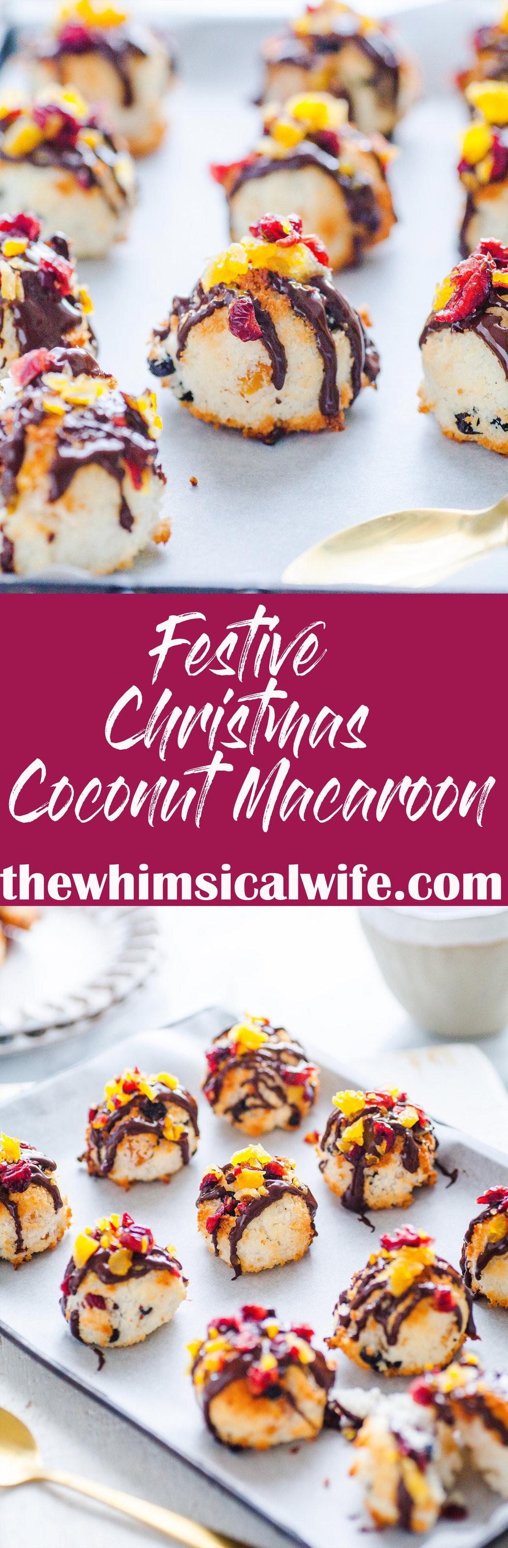 Christmas Coconut Macaroons {GF, DF, Nut Free}