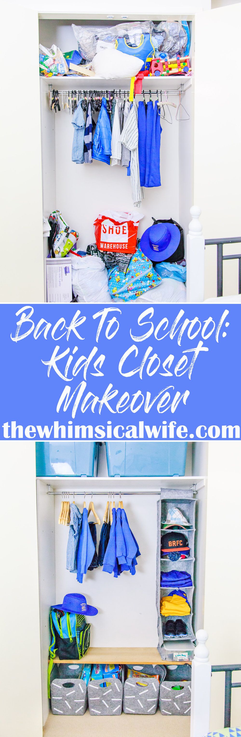 Back To School: Kids Closet Makeover For Under $50 + Video