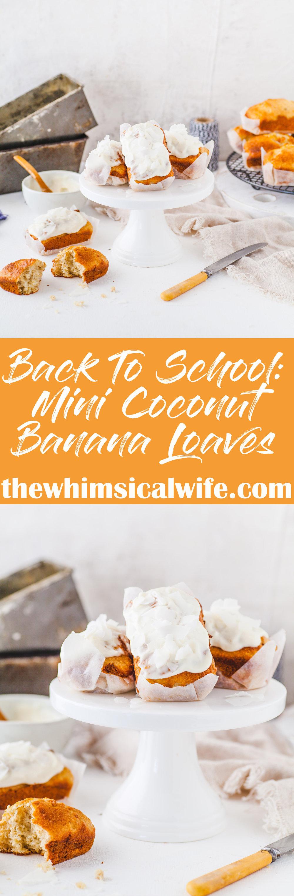 Back To School: Mini Coconut Banana Bread {Dairy & Nut Free}