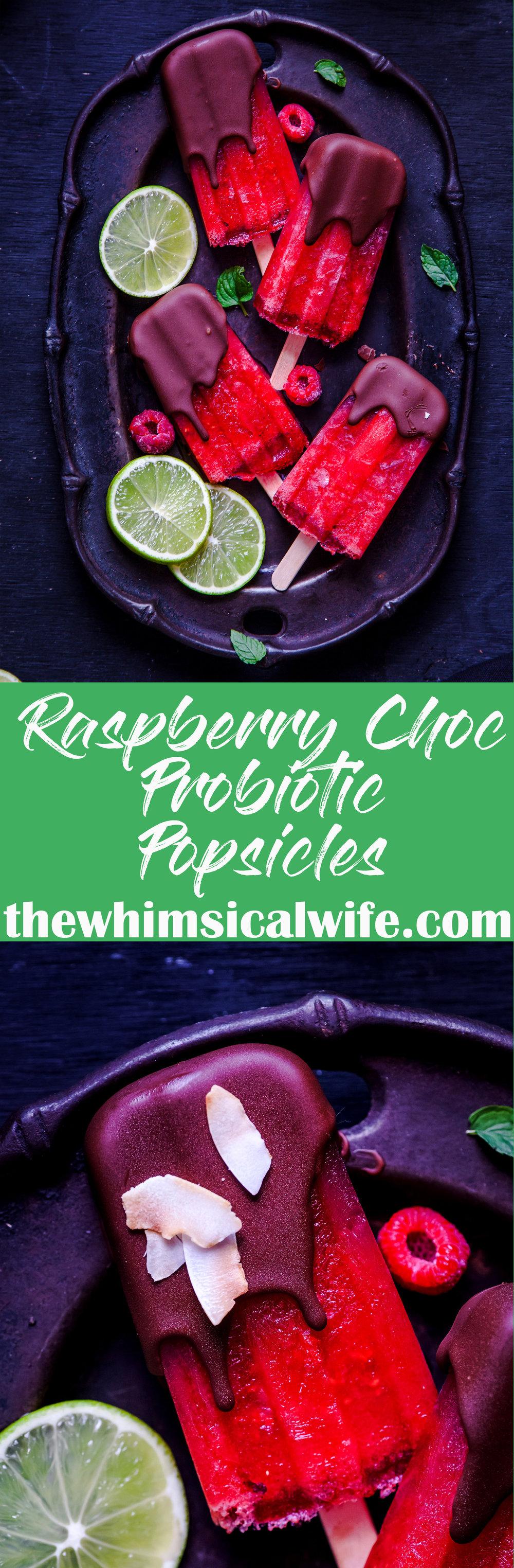 Sneaky Raspberry Choc Probiotic Popsicles {Dairy, Gluten, Nut & Egg Free}