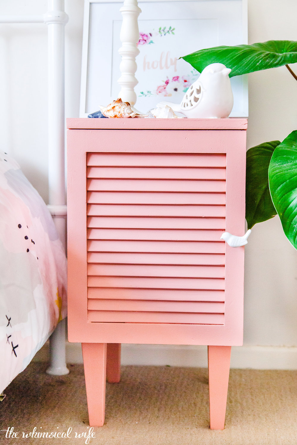 Soft & Sweet Pink Side Table Makeover