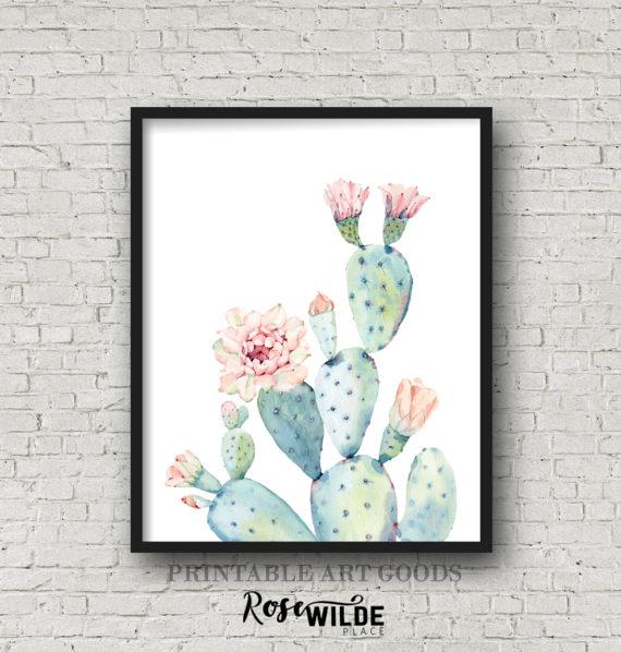 Cactus Plant Etsy Print