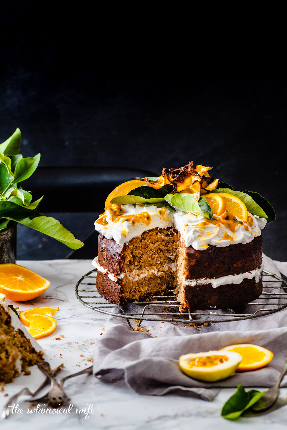 Vegan Humming Bird Cake With Zesty Lemon Coconut Cream | The Whimsical Wife