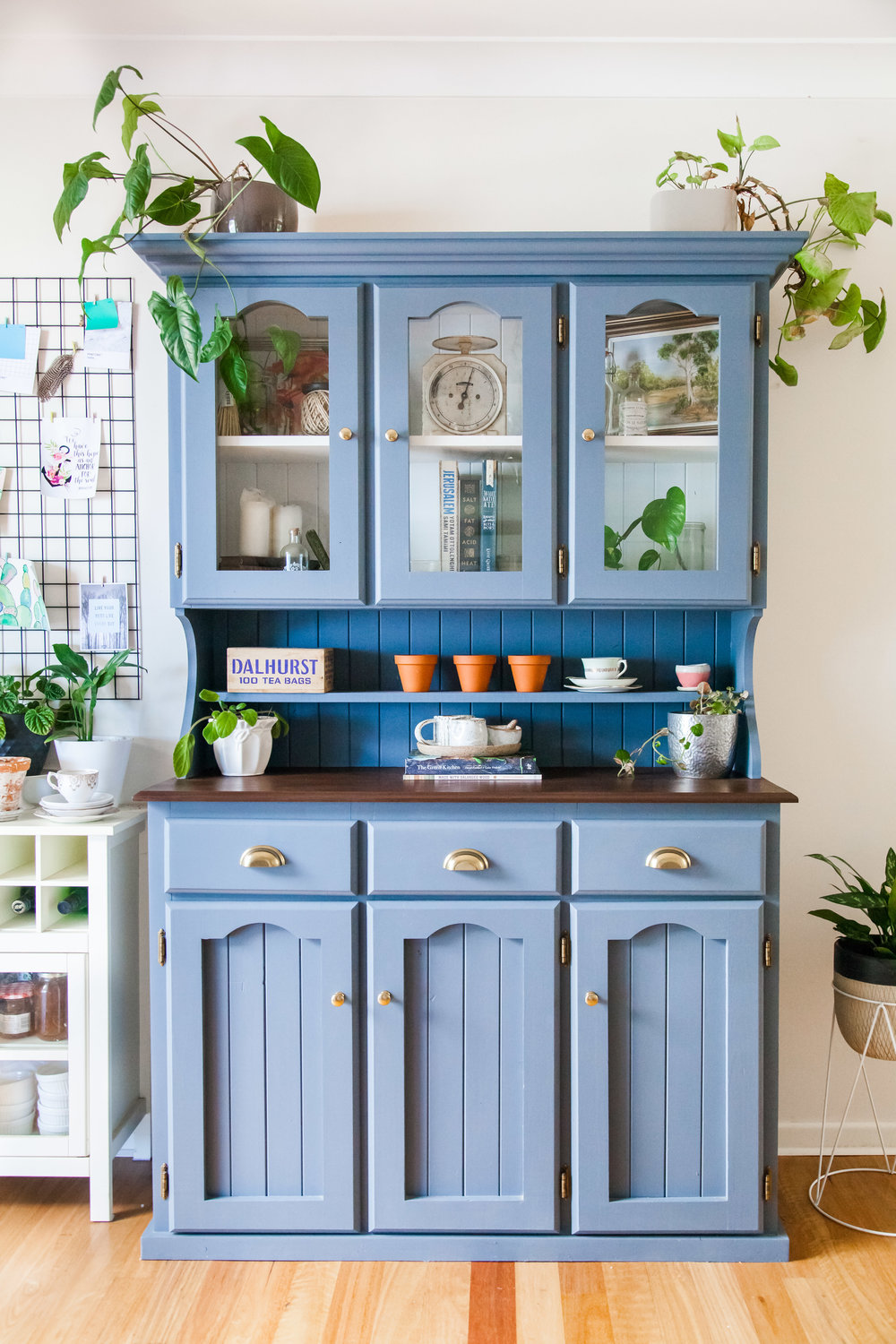 Mid Century Style Kitchen Hutch Makeover + Video — The Whimsical Wife