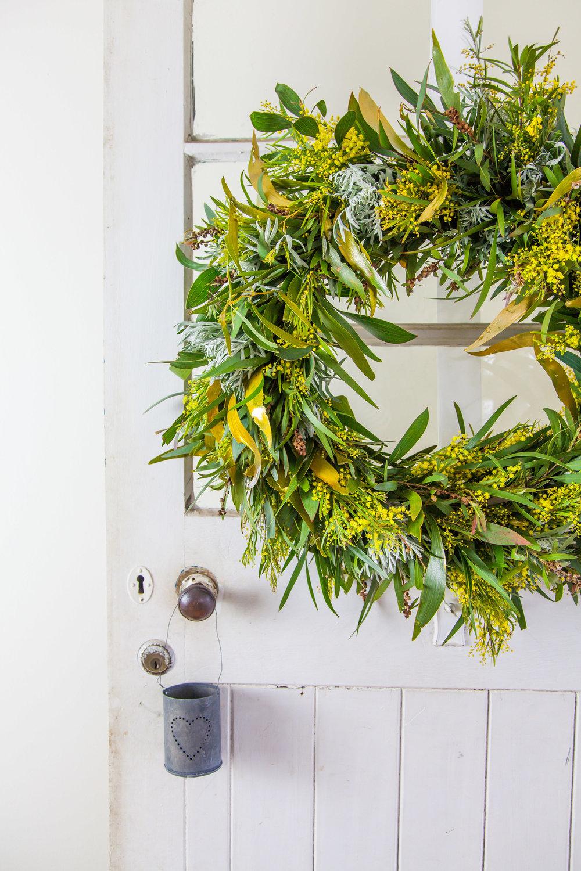 DIY Australian Native Christmas Wreath   The Whimsical Wife