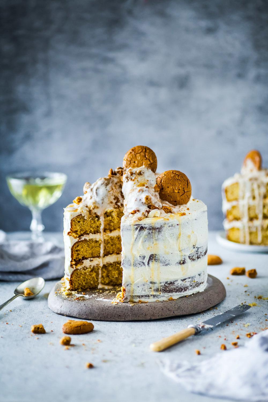 Honey Ginger Cake With Lemon Honey Buttercream The