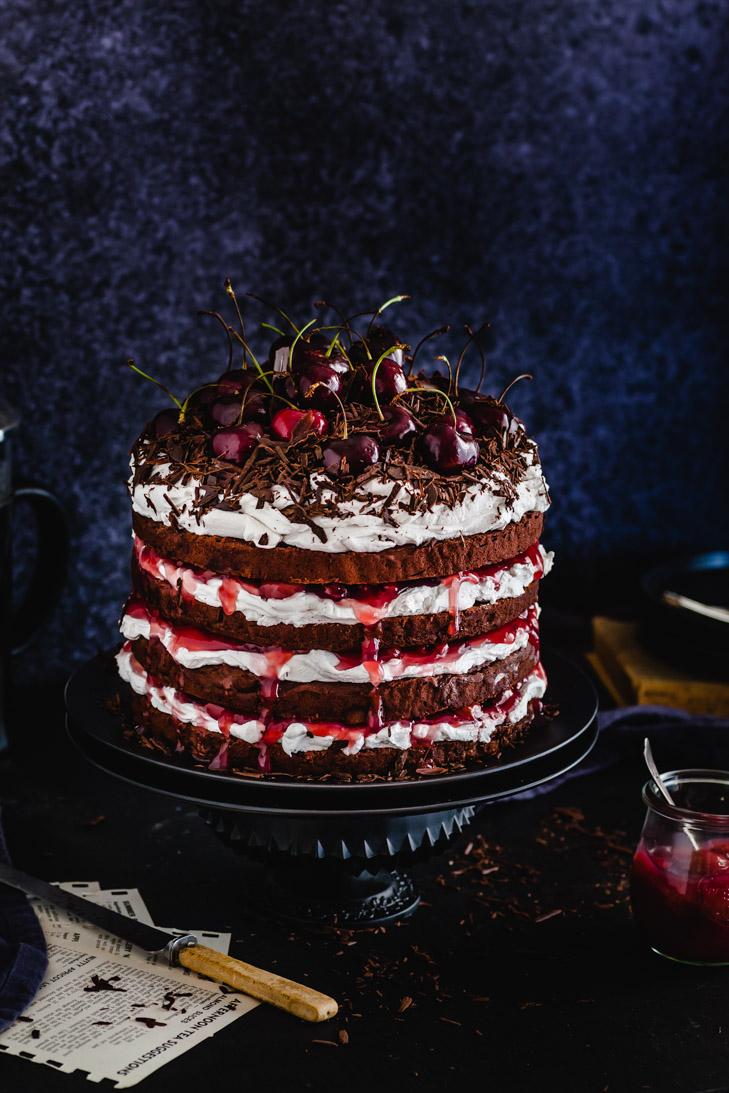 Blackforest Chocolate Torte {GF, DF, Vegan & Nut Free} - The Whimsical Wife