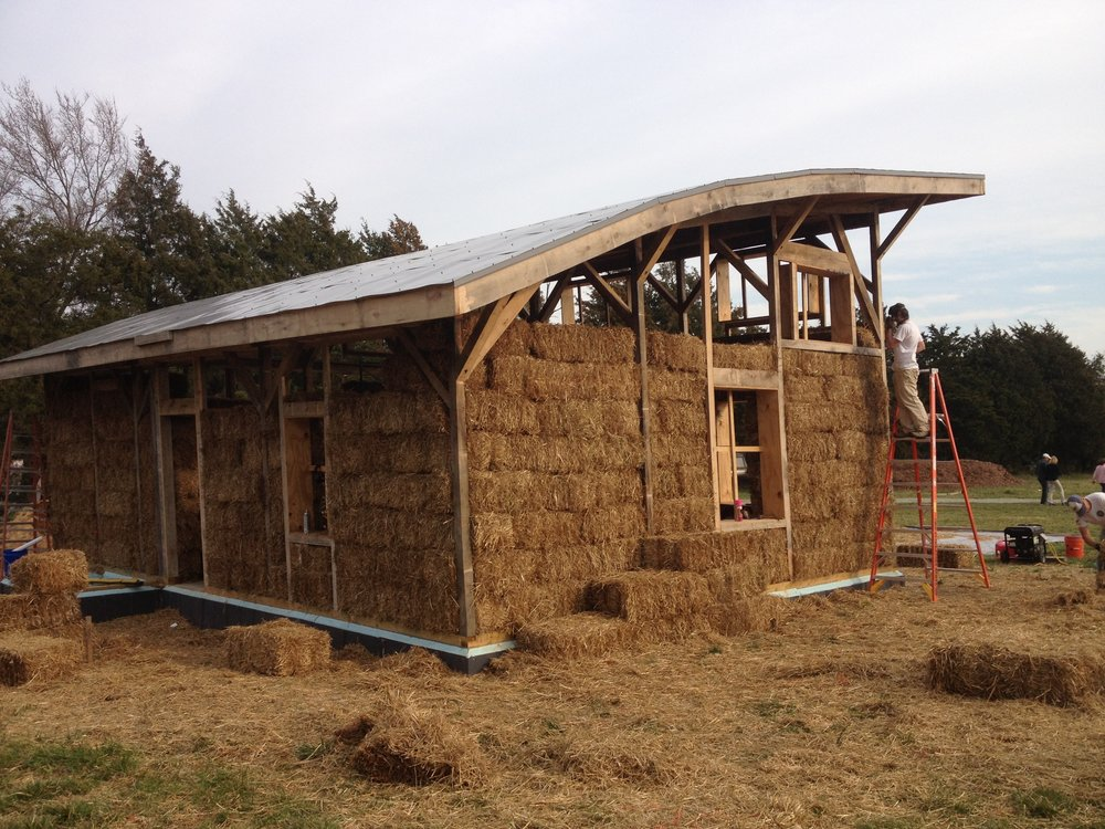 A straw bale home that generates all of its own power, hot water, clean air and filtered rainwater.