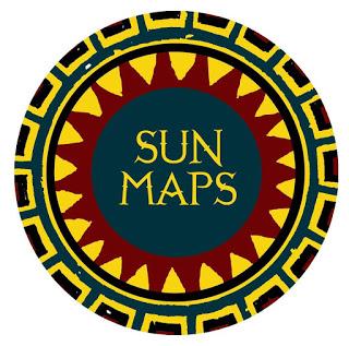 Sun Maps Logotipo  Logotipo de empresa de mapas.