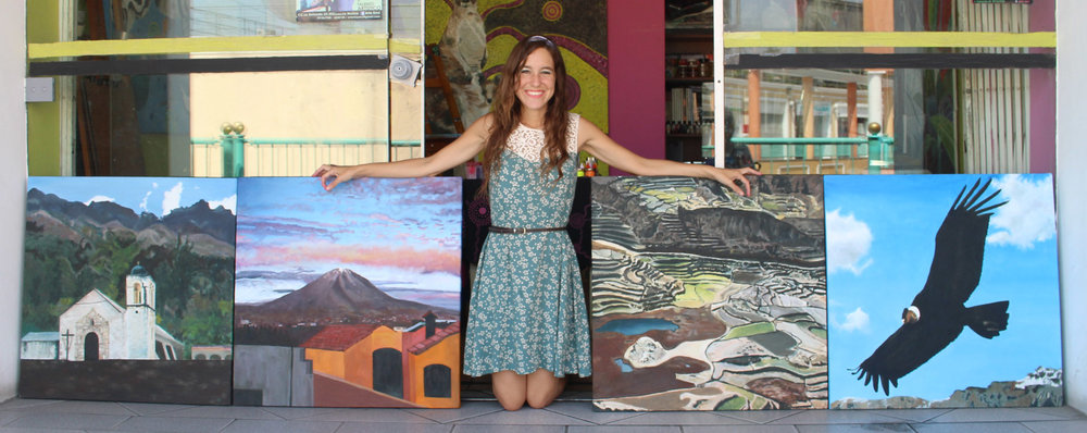 With my peruvian landscape paintings
