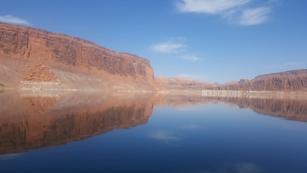Beautiful reflection of the walls of Lake Powell.