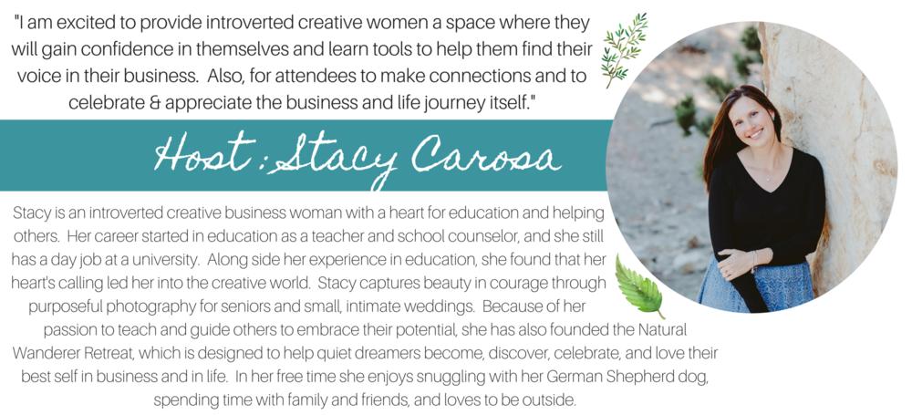 Stacy Carosa Natural Wanderer Retreat Creative Women