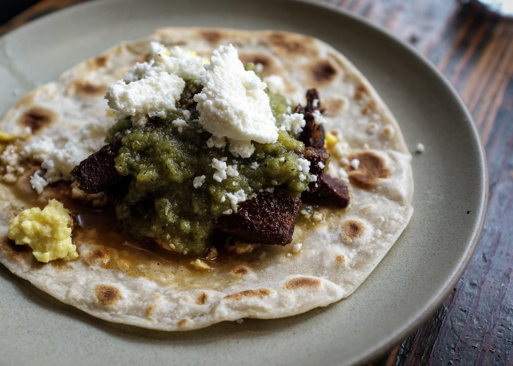 Lengua Macheca Breakfast Taco