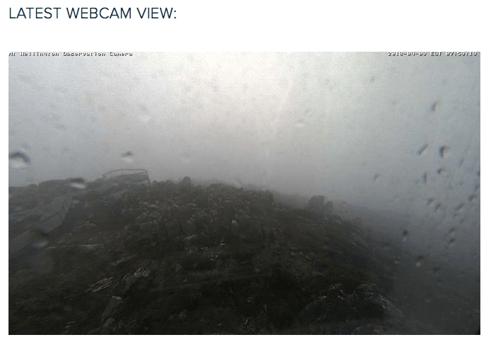 Wettest spot in Hobart  A not untypical day at The Pinnacle