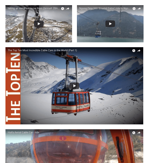 Click image to watch     actual  cable car rides    and decide for yourself