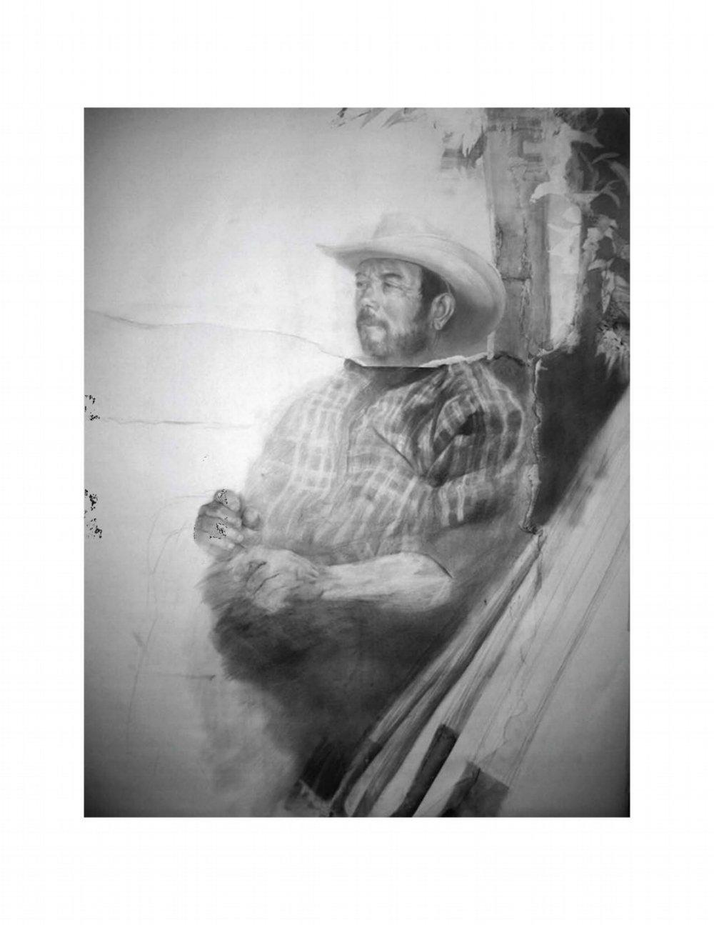 Father -Graphite, Collage
