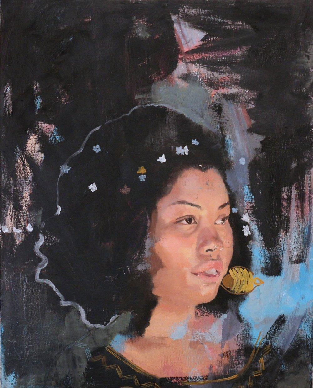 "Tara 16""x20"" Oil on Canvas"