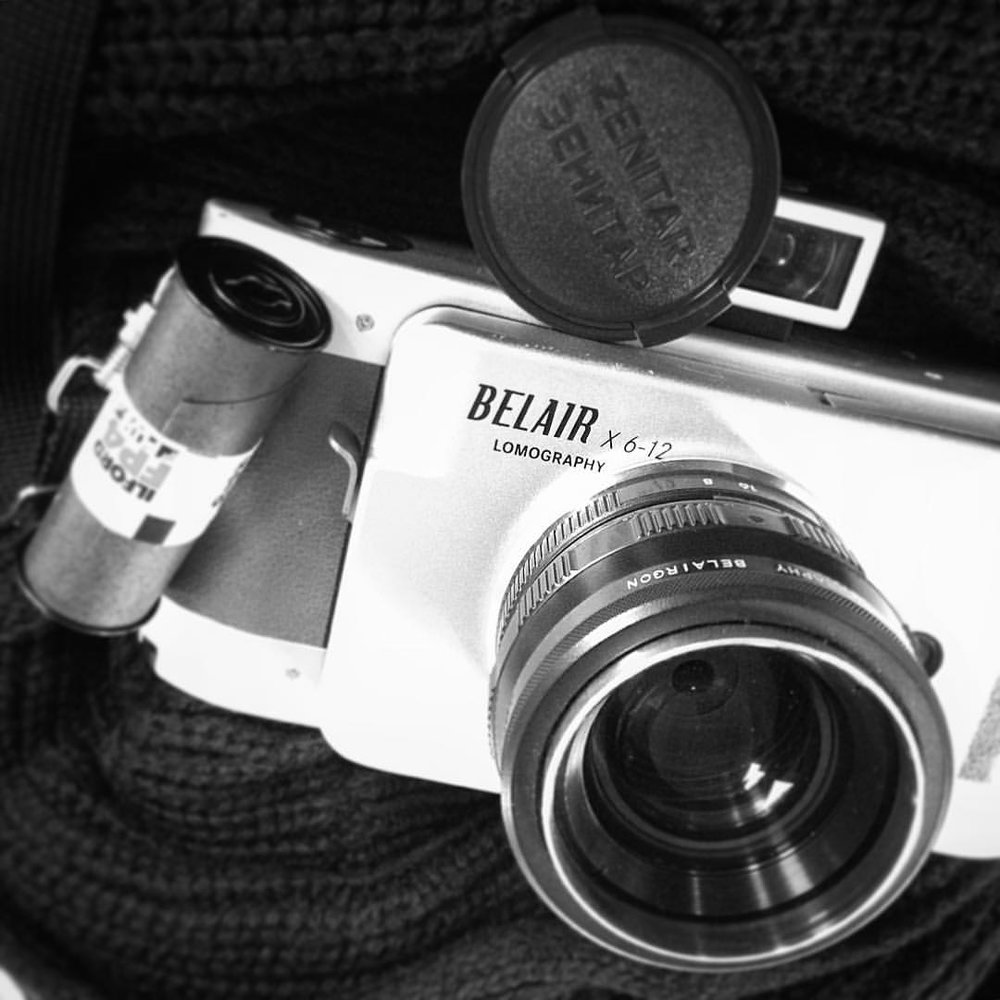 What are you shooting today? #Lomography #Belair with #Zenit glass and #Ilford #FP4.