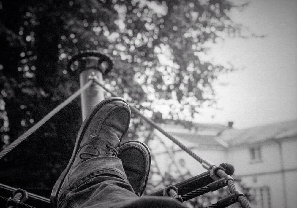 Portrait of an artist's size 11s. #bigfeet. Shot to #film on my #leica.