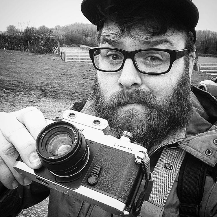 Out shooting with this beast of a setup today! #Believeinfilm #cwmivy #gower #beard  (at Llanmadoc Beach)