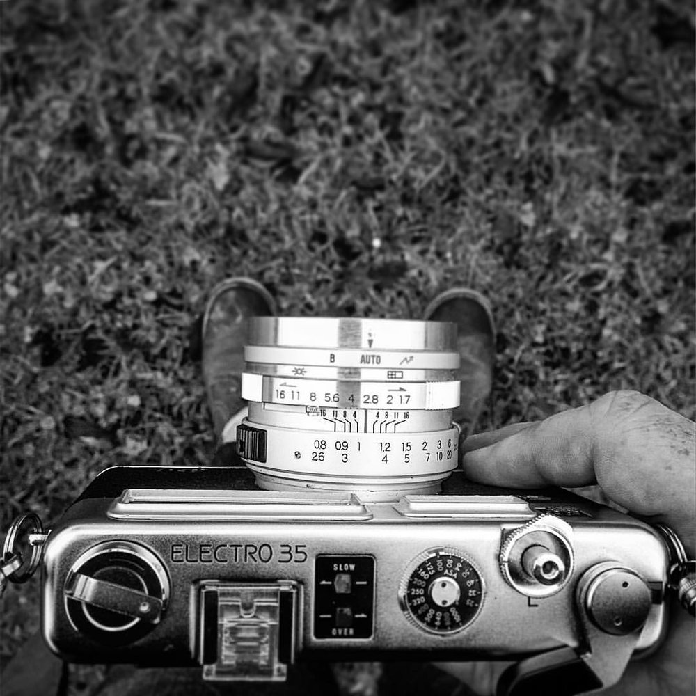 "Took the ""new"" #Yashica out yesterday loaded with #Ilford #FP4 from an acquaintance from the #monome community."