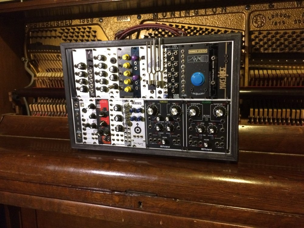 The modular and piano used on my new album, Cells.